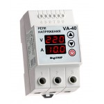 Реле напряжения с контролем тока VA-protector 40A