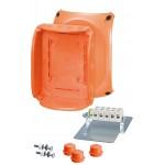 FK 1606 Коробка огнестойкая клеммная 7-полюсная 1,5-6кв.мм 210х155х92 IP65/IP66 оранжевая, Е30-Е90, РН120