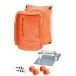FK 1608 Коробка огнестойкая клеммная 10-полюсная 1,5-2,5кв.мм 210х155х92 IP65/IP66 оранжевая, Е30-Е90, РН120