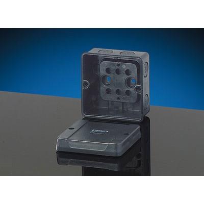 KD 5020 Коробка распределительная пустая 88х88х53 IP67 черная стойкая к УФ