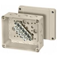 KF 9065 Коробка клеммная 5 положений до 6/10мм2 119х139х70 IP66 серая стойкая к УФ
