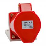 Розетка для монтажа на поверхность 115-16А-6h-380AC-3P+PE+N-IP44