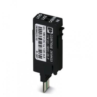 Штекерный модуль для защиты от перенапр-й - CTM 2X1-180DC-GS-P - 2838623