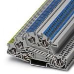 Заземляющие клеммы для выполнения проводки в зданиях - STI 2,5-PE/L/N - 3031843