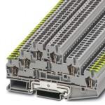 Заземляющий клеммный модуль с пружинными зажимами - ST 2,5-PE/L/L - 3036097