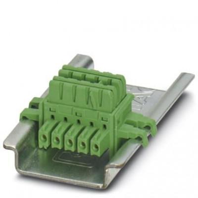 Шинные соединители на DIN-рейку - ME 6,2 TBUS-2 1,5/5-ST-3,81 GN - 2869728