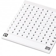 Маркировочный лист - SK 5,0 REEL P10 WH CUS - 0825129