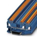 Проходные клеммы - QTC 1,5-TWIN BU - 3205051