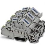 Заземляющие клеммы для выполнения проводки в зданиях - STI 2,5-1PE/3L/1N - 3038066