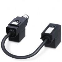 Адаптер двойного разъема клапана - SAC-MR/0,15-116/2XBI-1L-Z SCO - 1458509