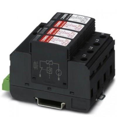 Разрядник для защиты от импульсных перенапряжений, тип 2 - VAL-MS 350VF/3+1-FM - 2858632