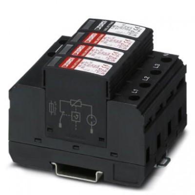 Разрядник для защиты от импульсных перенапряжений, тип 2 - VAL-MS 350 VF/3+1 - 2858755