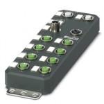 Децентрализ. устройство ввода-вывода - AXL E EC DI8 DO4 2A M12 6P - 2701523