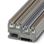 Клеммный модуль для подключения датчиков и исполнительных элементов - PTIO 1,5/S/3-LED 24 RD - 3244423