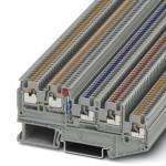 Клеммный модуль для подключения датчиков и исполнительных элементов - PTIO 1,5/S/4-LED 24 RD - 3244517
