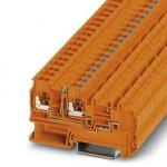 Клеммный модуль для подключения датчиков и исполнительных элементов - PTIO-IN 2,5/3-LED 24 GN - 3244561