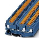 Проходные клеммы - QTC 2,5-TWIN BU - 3206461