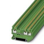 Проходные клеммы - PT 1,5/S-TWIN GN - 3208160