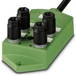 Коробка датчика и исполнительного элемента - SACB- 4/4-L- 5,0PUR QO-0,34 - 1548532