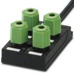 Коробка датчика и исполнительного элемента - SACB-4Q/4P- 5,0PUR - 1683662