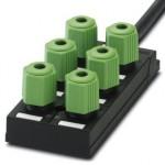 Коробка датчика и исполнительного элемента - SACB-6Q/4P- 5,0PUR - 1683688