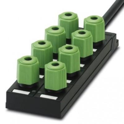 Коробка датчика и исполнительного элемента - SACB-8Q/4P-L- 5,0PUR - 1695281