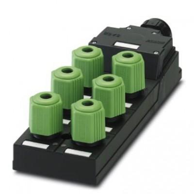 Коробка датчика и исполнительного элемента - SACB-6Q/4P-L-SC NPN - 1680869