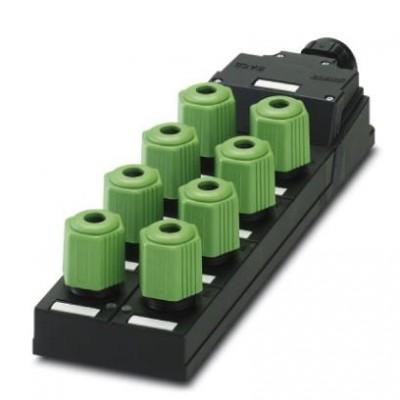 Коробка датчика и исполнительного элемента - SACB-8Q/4P-L-SC NPN - 1680872