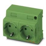Двойная розетка - EO-CF/PT/LED/DUO/GN - 0804050