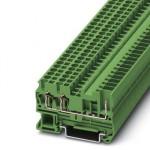 Проходные клеммы - ST 2,5-TWIN/ 1P GN - 3061224