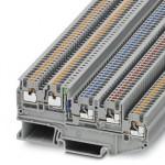 Клеммный модуль для подключения датчиков и исполнительных элементов - PTIO 1,5/S/4-LED 24 GN - 3244520