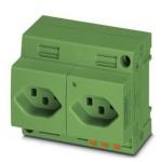 Двойная розетка - EO-J/PT/LED/DUO/GN - 0804111