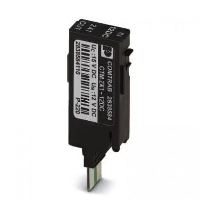 Штекерный модуль для защиты от перенапр-й - CTM 2X1- 12DC - 2838584