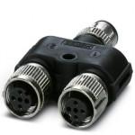 Y-разветвитель - SAC-3P-M12Y/2XM12FS 3L - 1403627