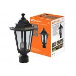 Светильник 6100-03 садово-парковый шестигранник, 100Вт, на опору, черный TDM