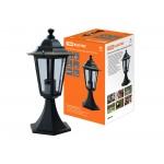Светильник 6100-04 садово-парковый шестигранник, 100Вт, стойка, черный TDM