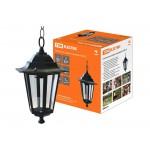Светильник 6100-05 садово-парковый шестигранник, 100Вт, подвес, черный TDM