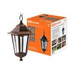 Светильник 6100-15 садово-парковый шестигранник, 100Вт, подвес, бронза TDM