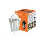 Светильник 6060-25 садово-парковый шестигранник, 60Вт, подвес, белый