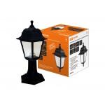 Светильник садово-парковый НТУ 04-60-001 четырехгранник, стойка, пластик, черный TDM