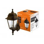 Светильник садово-парковый НБУ 04-60-001 четырехгранник, настенный, пластик, бронза TDM