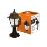 Светильник садово-парковый НТУ 04-60-001 четырехгранник, стойка, пластик, бронза TDM