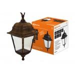 Светильник садово-парковый НСУ 04-60-001 четырехгранник, подвес, пластик, бронза TDM