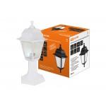 Светильник садово-парковый НТУ 04-60-001 четырехгранник, стойка, пластик, белый TDM
