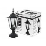 Светильник 6060-04Р садово-парковый шестигранник, 60 Вт, стойка, черный,  в разборе, Ч/Б, TDM
