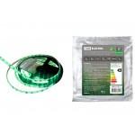 Лента светодиодная SMD2835-60 LED/м-IP65-12 В-4,8 Вт/м-зелёный (5 м) TDM