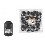 Патрон Е27 подвесной, термостойкий пластик, черный, TDM