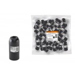 Патрон Е14 подвесной, термостойкий пластик, черный, TDM