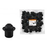 Патрон Е27 с кольцом, термостойкий пластик, черный, Б/Н TDM