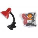 Светильник настольный прищепка 60Вт, E27 красный (мягкая упак.) TDM